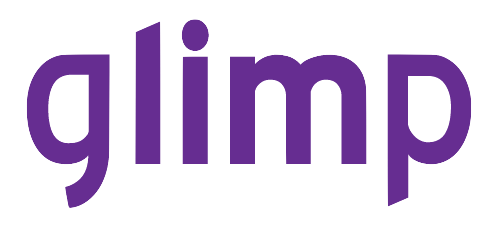 Glimp logo purple